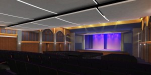 A rendering of the proposed renovation of the Margaret Williams Theater.
