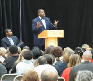 Reverend David Hart, III., a graduate of East High School gave the eulogy.