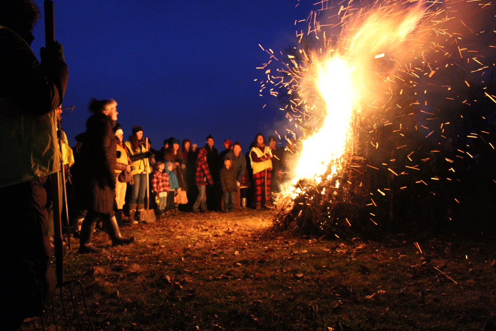 The twice annual Solstice bonfire at Olbrich Park. This celebrated the Winter Solsice. December 22, 2015.