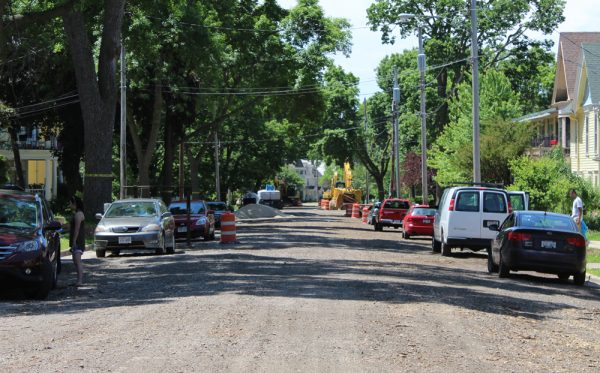 Jenifer Street in June in the early stages of reconstruction. Project is now at peak apocalypse.